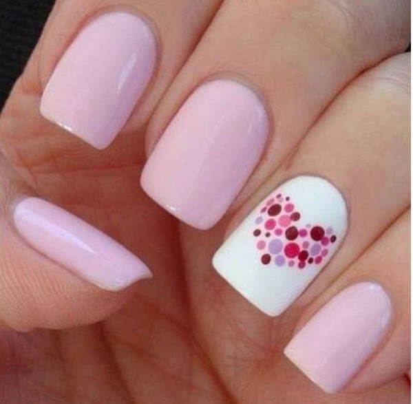 30 funky and trendy nail art designs for 2014 40 pink nail art ideas 1 prinsesfo Images