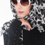 Black and White Hijab