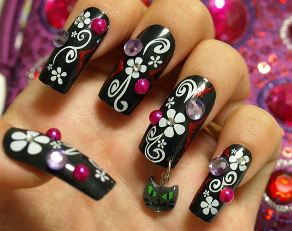 Simple black nail art designs impfashion all news about simple black nail art designs prinsesfo Image collections