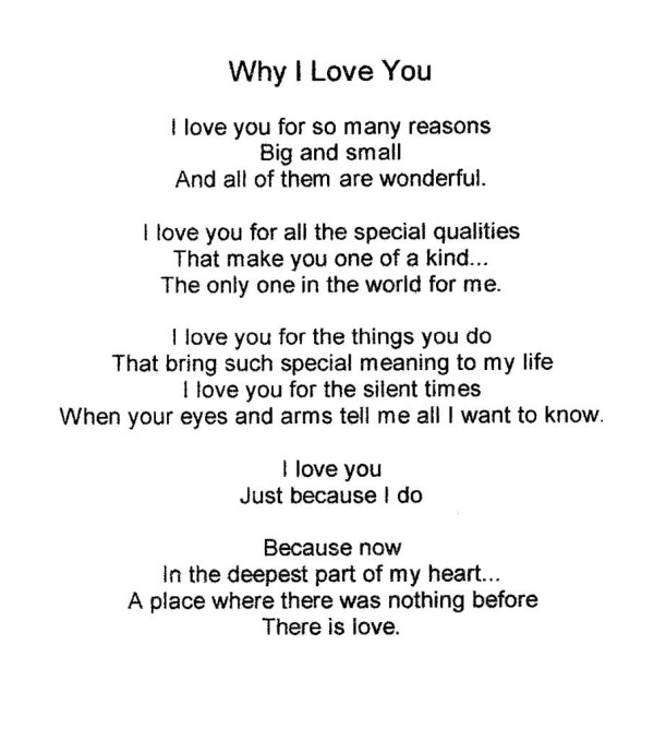 Why I Love You. Love Sayings