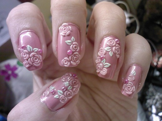 50+ Most Beautiful 3d Nail Art Designs For Girls