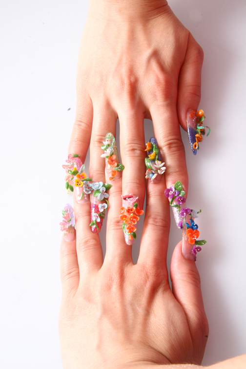 50 Most Beautiful 3d Nail Art Designs For Girls