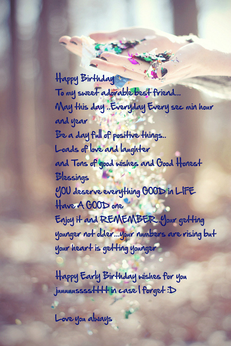 Birthday Quotes For A Friend Miles Away : Best friend birthday quotes quotesgram