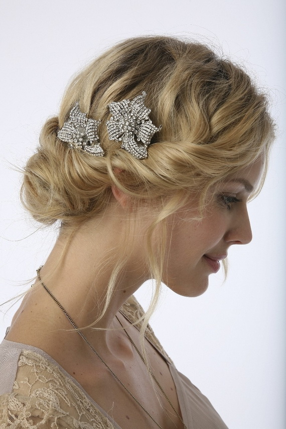 21. Vintage Wedding Bridal Hairstyles
