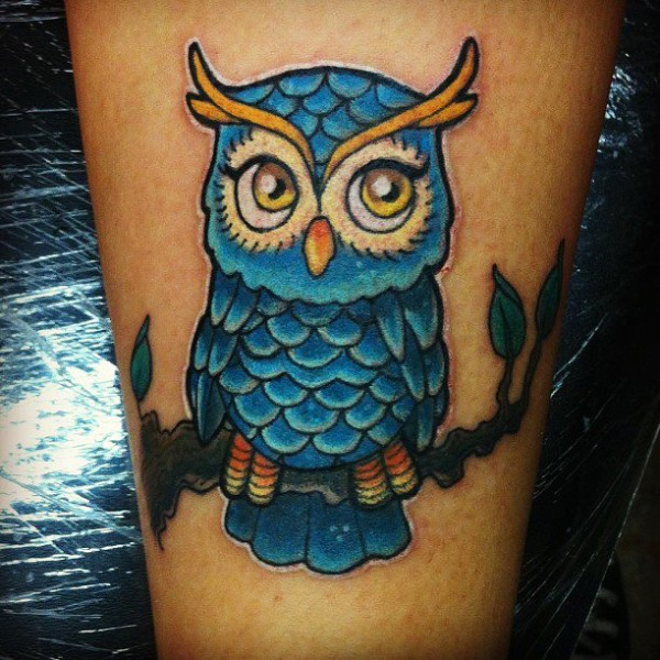 40 creative owl tattoos for tattoo lovers. Black Bedroom Furniture Sets. Home Design Ideas