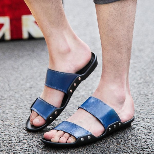 2015-new-summer-fashion-trend-of-font-b-men-b-font-casual-fashion-leather-beach-slippers