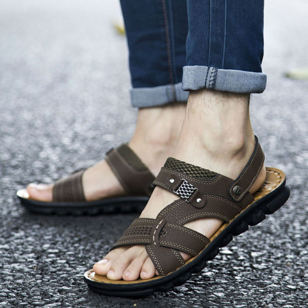 Summer-2015-men-s-sandals-men-leather-sandals-genuine-breathable-men-s-shoes-sandals-casual-sandals