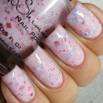 Sprinkles on Pinkish Nail Art