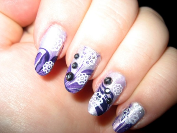 animal-print-stunning-purple-gradient-nail-art-design-with-cool-white-swirls-and-nail-polish-design-ideas-easy
