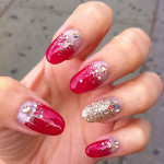 Glowing Red with Silver Sprinkles n Jewels