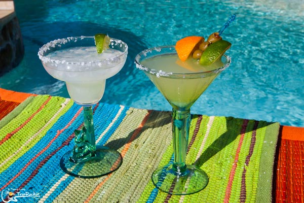 Margarita and Martini cocktail drinks