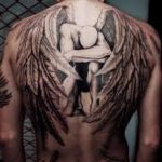 Amazing Sad Angel Tattoo