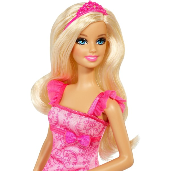 Blue Eyed Princess Barbie Doll In Pink Dress