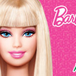 Blue Eyed and Golden Hair Barbie with Pink Background