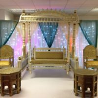 Mehndi Event Stage HD Wallpaper