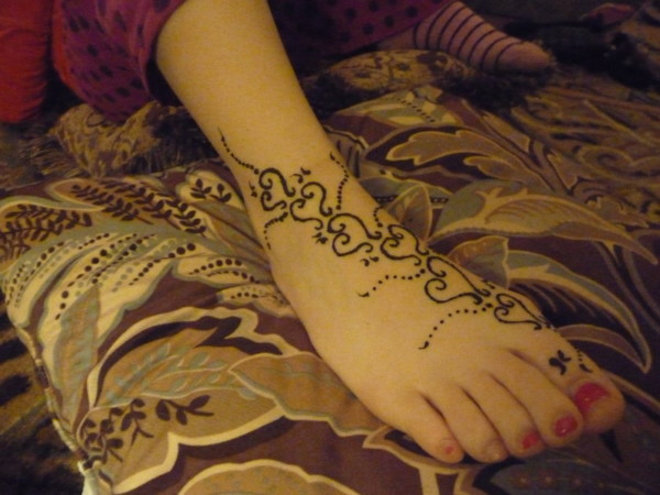 New Foot Mehndi Design Wallpaper