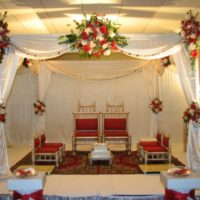 Indian Wedding Stage Decoration Wallpaper