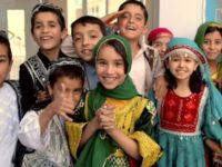 Afghan Schoolchildren in Kabul On Eid Al Fitr