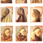 Hijab styles In diffrent pose