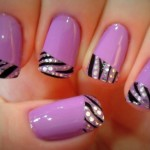 Multicolor Nail Art Zebra French Manicure