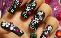 Simple Black Nail Art Designs
