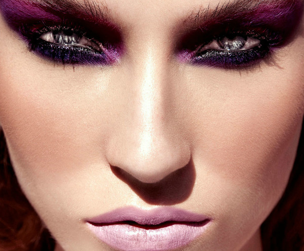 Dramatic Pink And Purple Eye Makeup