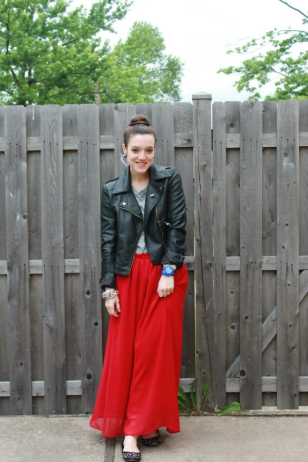 maxi skirt outfits