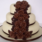 Yummy Chocolate Flower and Caramel Cake