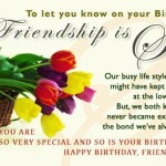Beautiful Birthday Wishes on Friendship