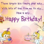 Cute Angel Birthday Wishes For Cute Babies