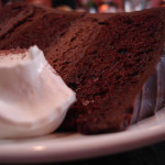 Chocolate Cake with Vanilla Ice-cream