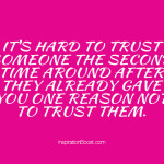 Second Time Trust Quotes