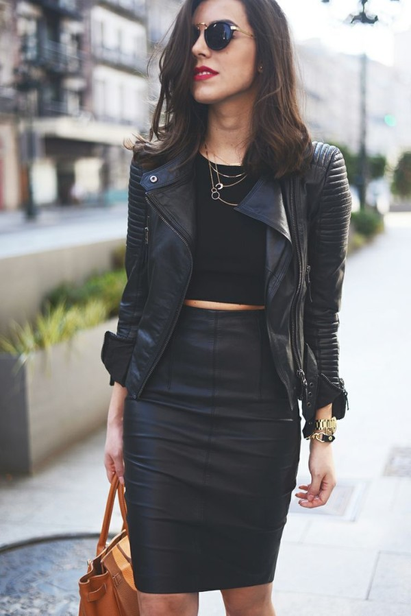leather-jacket-and-skirt