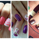 Various Patterns with Flowers Nail Trends