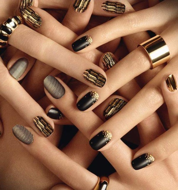 download-gold-nail-art-sticker-731x780