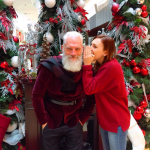 Amazing girl and santa naughty selfie