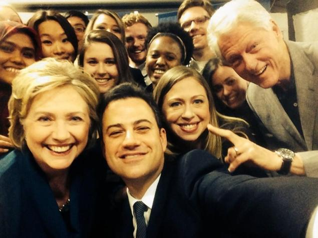 Hillary with colleagues
