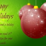 Happy holiday christmas wishes card