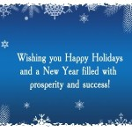 New year holiday wishes cards