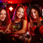 Three Girls Halloween Parties