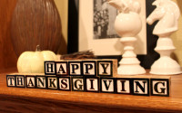 thanksgiving blocks decor