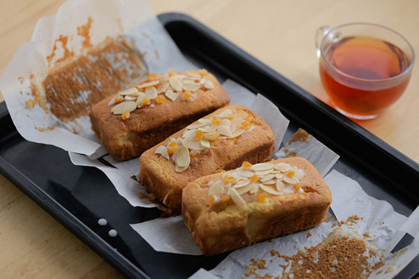 Tea Time Almond Honey Pound Cake