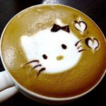 coffee art hello kitty
