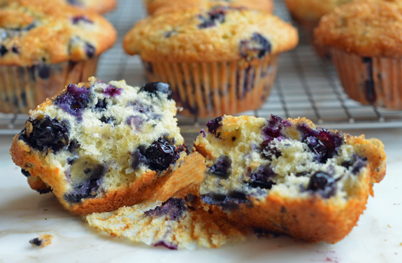 Best blueberry muffins full of fresh blueberries