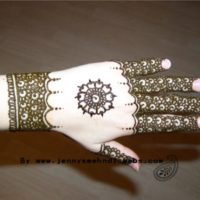 Classic Hand Back Mehndi Design Wallpaper