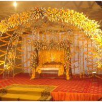 Image of Mehndi Stage Decoration Ideas