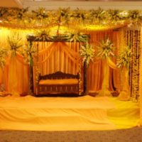 Mehndi Stage Decoration HD Wallpaper