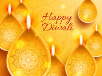happy diwali india styles vector background