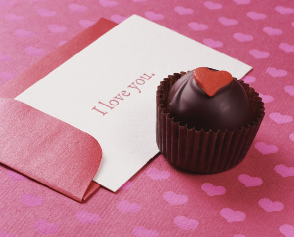 Amazing Chocolate Truffle With a Card