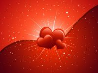 Happy Valentine Day with heart